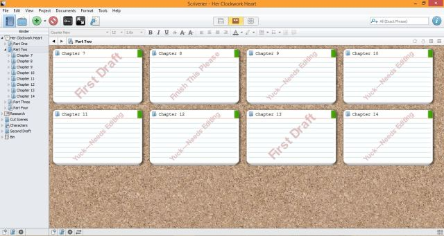 3 Features that Make Scrivener Ideal for First Drafts. Feature Two: Assignable Statuses | www.sprintshack.wordpress.com