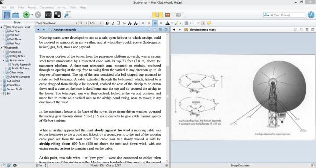 2 Features that Make Scrivener Ideal for First Drafts. Feature One: Split Screen | www.sprintshack.wordpress.com