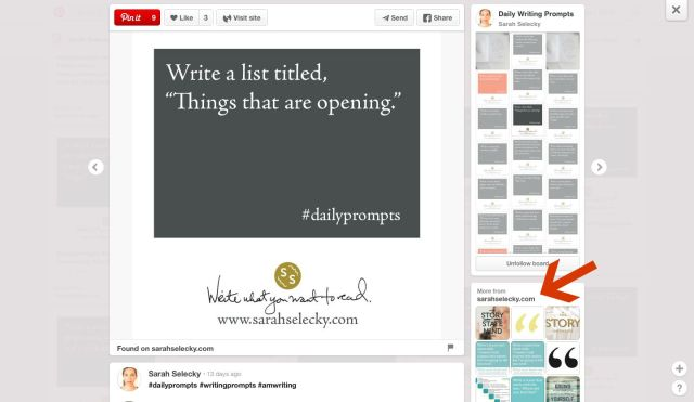 How and where can you find the best writing prompts on Pinterest? Here are 4 ways to find the spark that can rekindle your imagination. | www.sprintshack.wordpress.com